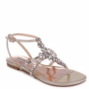 Badgley Mischka Hampden Crystal Sandals Size 7